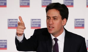 Ed Miliband delivering his speech on an EU referendum.
