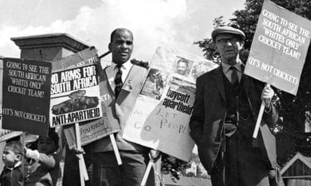 AAM supporters asking spectators boycott the Springboks v Glamorgan cricket match in Swansea in 1965