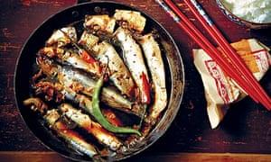 Caramelised sardines in coconut water
