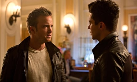 Aaron Paul, left, and Dominic Cooper in Need for Speed