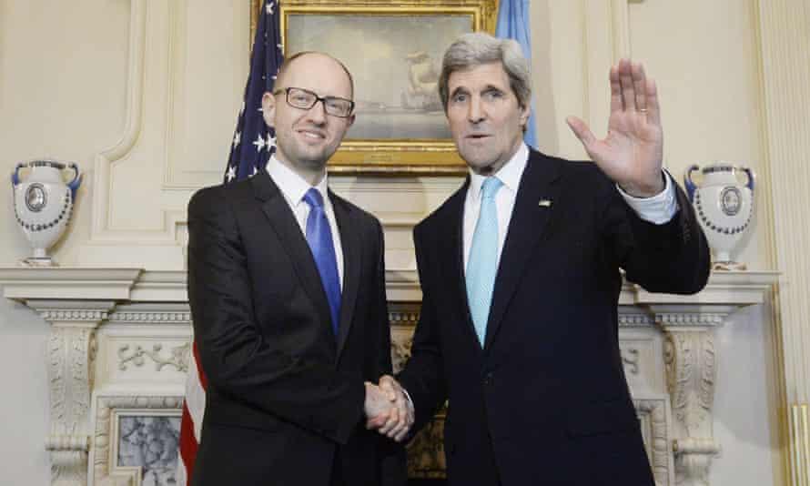 John Kerry and Arseniy Yatsenyuk