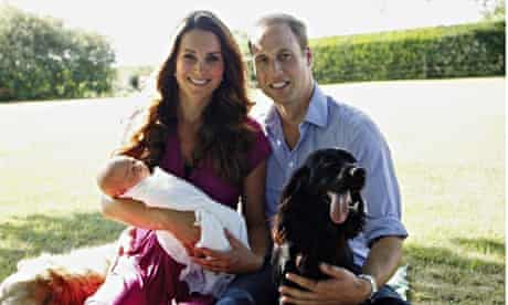 Duke and Duchess of Cambridge With Prince George Bucklebury