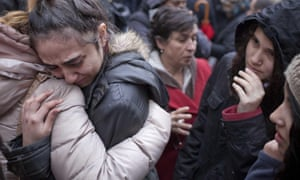 A woman crying during a gathering in Okmeydani neighborhood after the death of Berkin Elvan