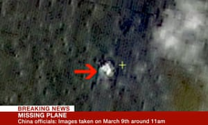 Satellite image of possible Malaysia Airlines flight MH370 debris
