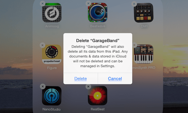 iOS 7.1 emphasis 'action' words