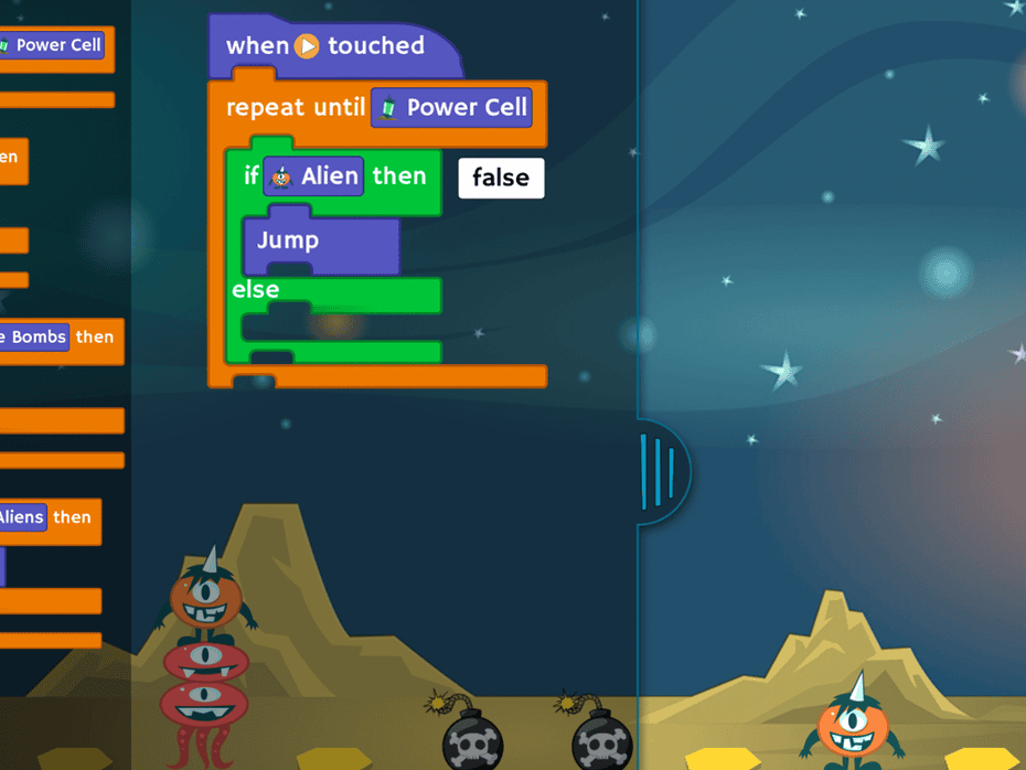 The Tynker iPad app uses puzzles to introduce kids to coding skills.