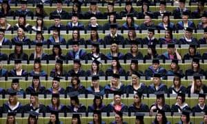 Students graduating from Edge Hill University, Ormskirk, Lancashire