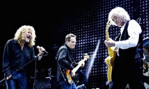 Led Zeppelin live in London in 2007.