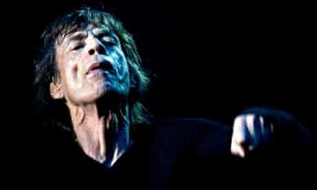Mick Jagger performs