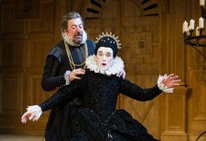 Tweflth Night: Stephen Fry (Malvolio) and Mark Rylance (Olivia) at Apollo Theatre in 2012