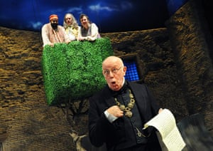Tweflth Night: Richard Wilson (Malvolio) in a RSC production at the  Courtyard Theatre in