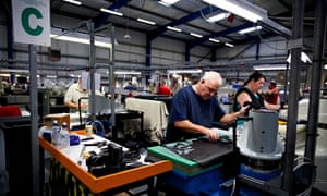 The production line at the New Balance shoe factory in Flimby, Cumbria