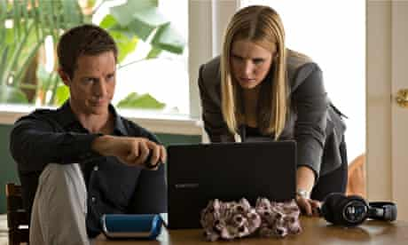 Jason Dohring and Kristen Bell in a scene from Veronica Mars