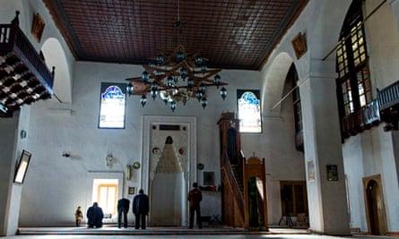 Tatars pray at mosque