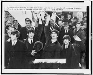 Beatles at JFK airport