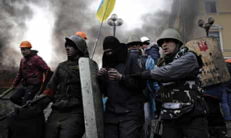 Anti-government protesters in Kiev's Independence Square