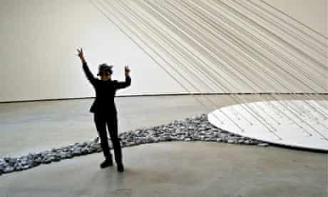 Yoko Ono, at her Guggenheim exhibition