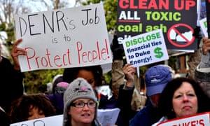 Duke Energy protesters