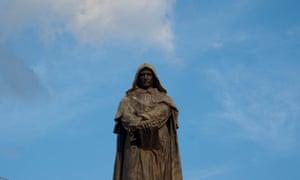 Statue of Giordano Bruno, erected at Campo de' Fiori in Rome, 1889.