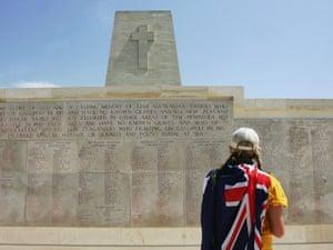 Australian at Gallipoli on Anzac Day