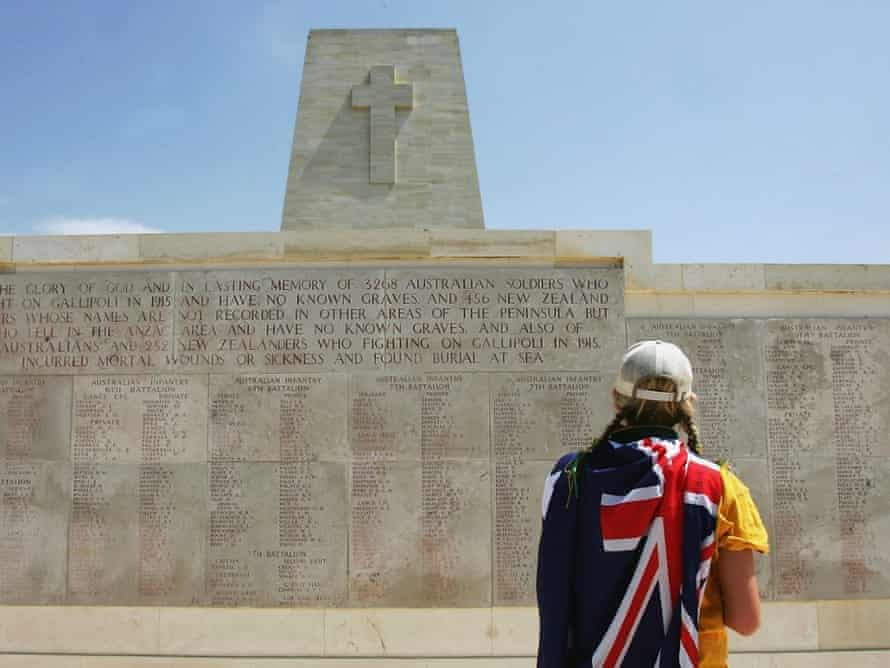 Australian at Gallipoli on Anzac Day