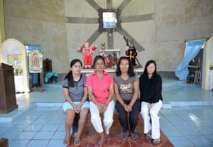 Here the four sit for a photograph inside their chapel in Tolosa, Leyte island.