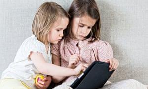 Girls with iPad