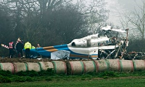 Helicopter crash in Gillingham