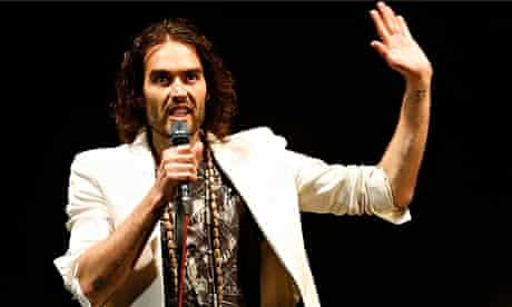 Russell Brand on stage in March