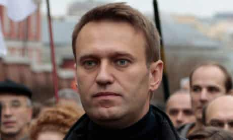 Kremlin critic Alexei Navalny takes part in an opposition rally in Moscow