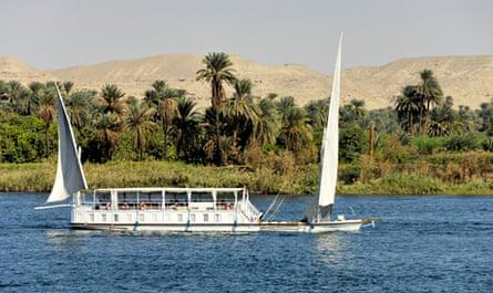 A dahabiya on the Nile.