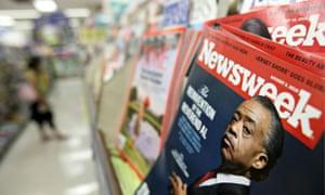 Newsweek magazines on a newsstand