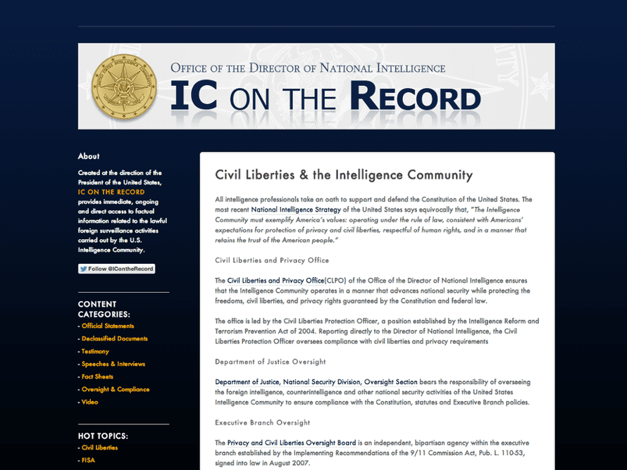 IC On The Record