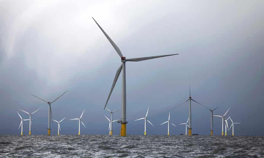 Turbines at the London Array. A survey of attitudes to science and engineering today found 76% people support offshore wind farms.