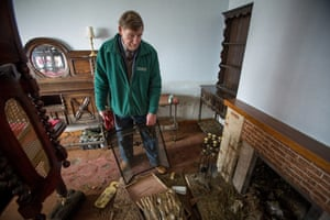 Michael Price, a Moorland Resident, who was completely flooded out in the recent floods on the Somerset Levels