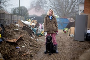 Bryony Sadler, a Moorland resident, who was flooded out in the recent floods on the Somerset Levels.