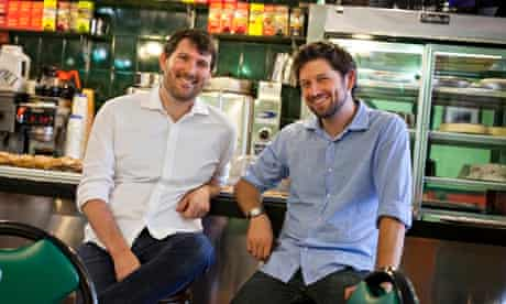 Eli Pariser, left, and Peter Koechley, Upworthy co-founders