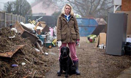 Bryony Sadler, a resident of Moorland, who had to leave quickly with her family and pets last month.