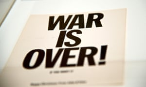 One of the original War is Over flyers.