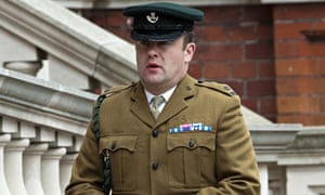 Major Richard Streatfeild at the inquest into the friendly-fire death of soldier Michael Pritchard