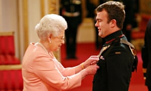 Major Richard Streatfeild is made an MBE for services in Afghanistan by the Queen