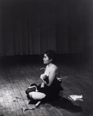 Cut Piece performed by Yoko Ono at Carnegie Hall, New York, 21 March, 1965.