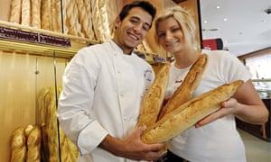 Baker Antonio Teixeira, 24, and his wife