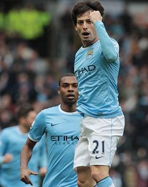 Hull v City: Manchester City's David Silva celebrates