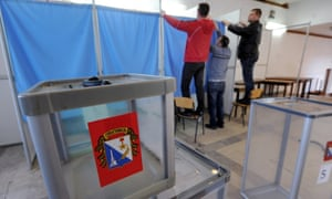 Voting station in Crimea