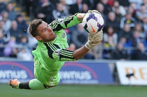 saturday round-up: West Brom's Ben Foster makes a save