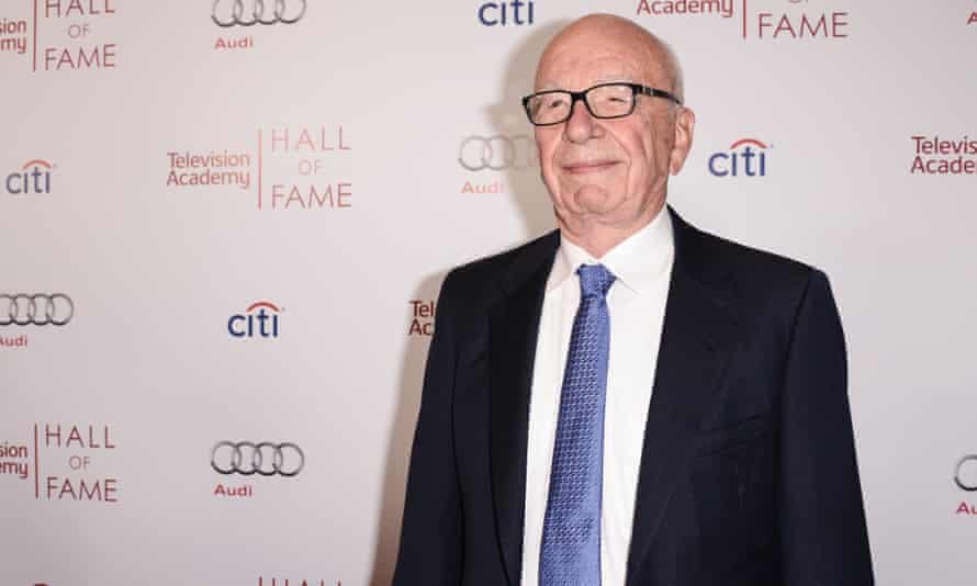 News Corp Executive Chairman Rupert Murdoch attends the 2014 Television Academy Hall of Fame on Tuesday, March 11, 2014, in Beverly Hills, California.