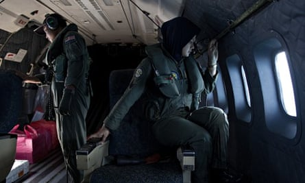 A Malaysian air force aircraft searches