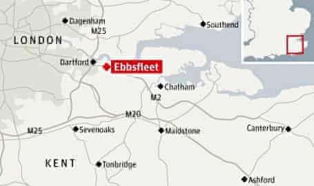 Ebbsfleet map