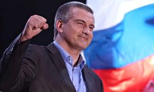 Sergei Aksyonov , the pro-Russian prime minister of Crimea,